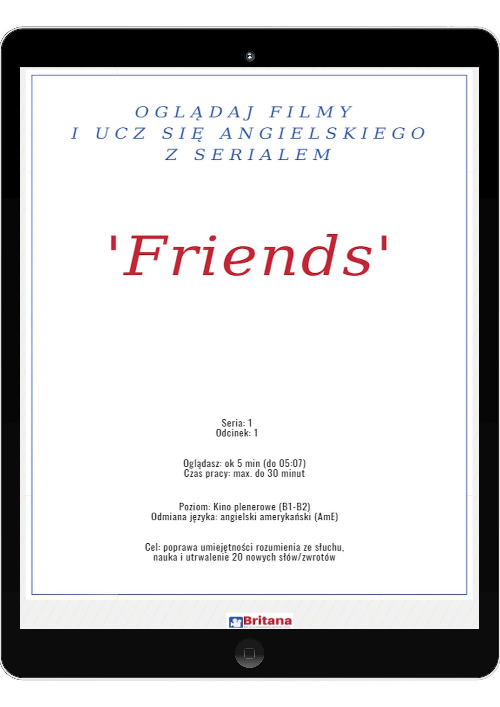 Fragment lekcji z 'Przyjaciółmi'