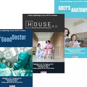 Kurs angielskiego medycznego z 3 serialami
